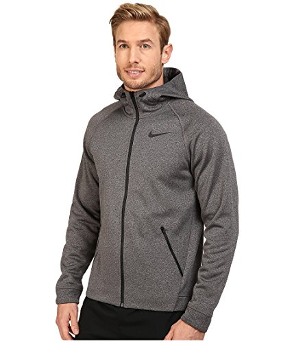 256c6bcf0 Nike Men's Therma-Sphere Training Jacket (Charcoal Heather and Black,  Medium): Amazon.in: Sports, Fitness & Outdoors