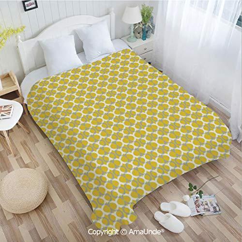 AlinaMa Custom Flannel Blanket W39.37 xL59.06 Bathroom Decor,Abstract Lines and Ogee Pattern Geometrical Arrangement Ethnic Motif Super Soft Lightweight Breathable Sleeping Blanket
