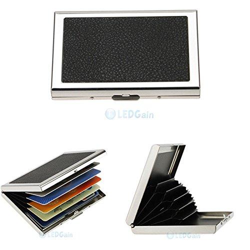 X2Waterproof Aluminum Business ID Credit Card Mini Wallet Holder Pocket Case Box -