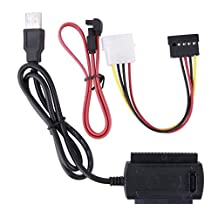 SATA/PATA/IDE Drive to USB 2.0 Adapter Converter Cable for 2.5/3.5 Hard Drive