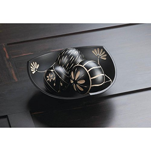 Bowls ARTISAN TRI-POINT BOWL DECORATIVE BALLS Deco Hall Table Room Den Bar Office Black Wood Carve Carvings - Deco Bowl And Ball