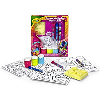 Crayola Trolls Washable Paint Set, Gift for Kids, Over 30Piece: Toys & Games