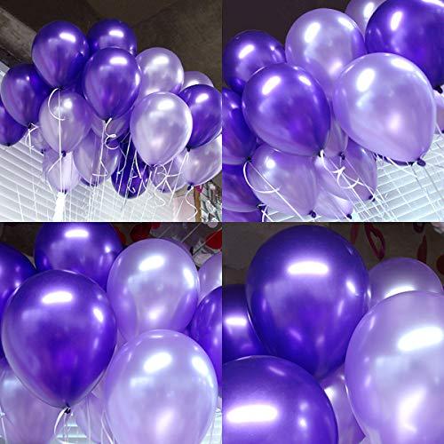 100pcs Balloons Purple & Light Purple Mixed Balloons 10