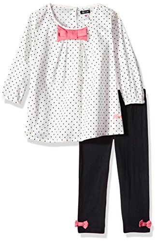 (kensie Girls' Toddler Fashion Top and Legging Set (More Styles Available), Vanilla 3T)