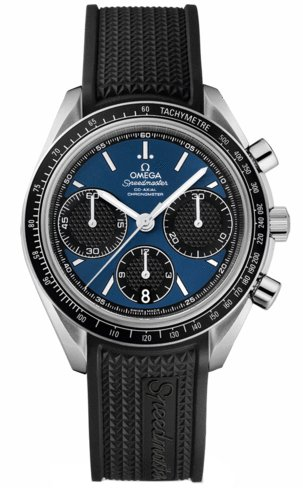 Omega Speedmaster Racing Automatic Chronograph Blue Dial Stainless Steel Mens Watch 32632405003001 - Omega Speedmaster Automatic