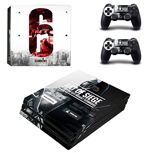 MightyStickers - Tom Clancy's Rainbow 6 Siege PS4 Pro Console Wrap Cover Skins Vinyl Sticker Decal Protective for Sony PlayStation 4 Pro + 2 Controller (Best Rainbow Six Siege Skins)