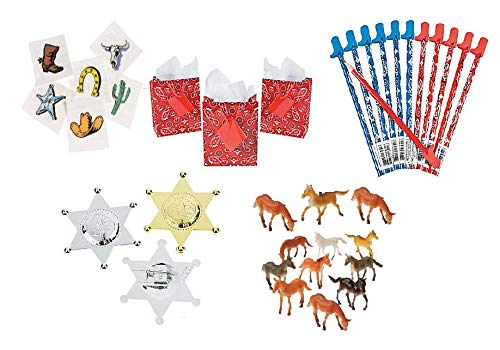 Childrens Western Party Favor Set