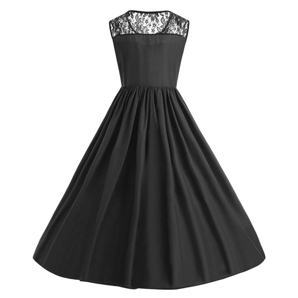 Huhu833 Vintage Retro 1950 Audrey Hepburn Plus Size Spitze Patchwork Schmetterling Print Party Abend Prom Swing Kleid