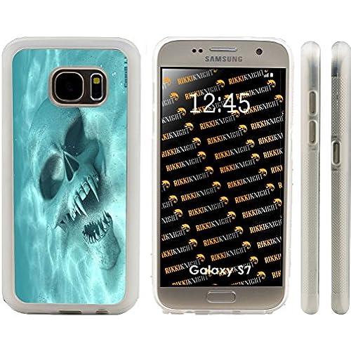Rikki Knight Rikki Knight Halloween Werewolf Sunken Skull Design Samsung Galaxy S7 Case Cover (Clear Rubber with Sales