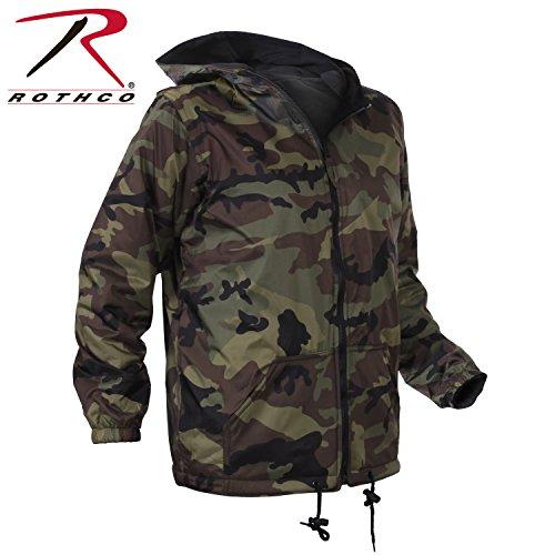 Rothco Kids Reversible Jacket with Hood, Camo, Medium