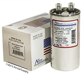 ClimaTek Round Capacitor fits York # 024-25894-700 S1-02425894700 40//5 uf MFD 370//440 Volt VAC