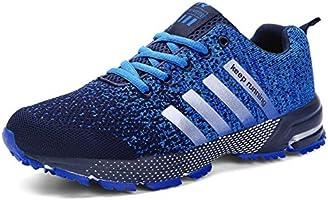 Sollomensi Zapatillas Hombres Mujer Deporte Running Zapatos para Correr Gimnasio Sneakers Deportivas Padel Transpirables Casual EU 38 B Blanco