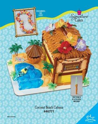 BEACH LUAU HAWAII Cake Topper Decoration KIT Cupcake House Surfing Birthday Sea