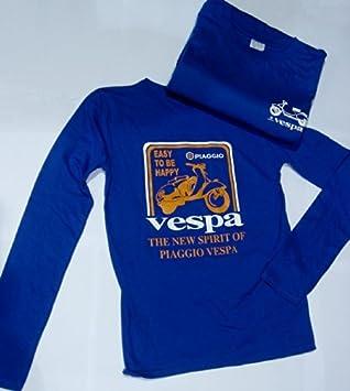 Tucuman Aventura - Camisetas vespa chica azul manga larga