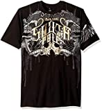 Southpole Men's Short Sleeve Graphic Tee Collection, Black Wings, 6XB