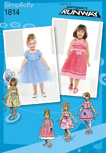 UPC 039363518143, Simplicity Project Runway Collection 1814 Toddlers and Childs Dresses Sewing Pattern, Size AA (1/2-1-2-3)