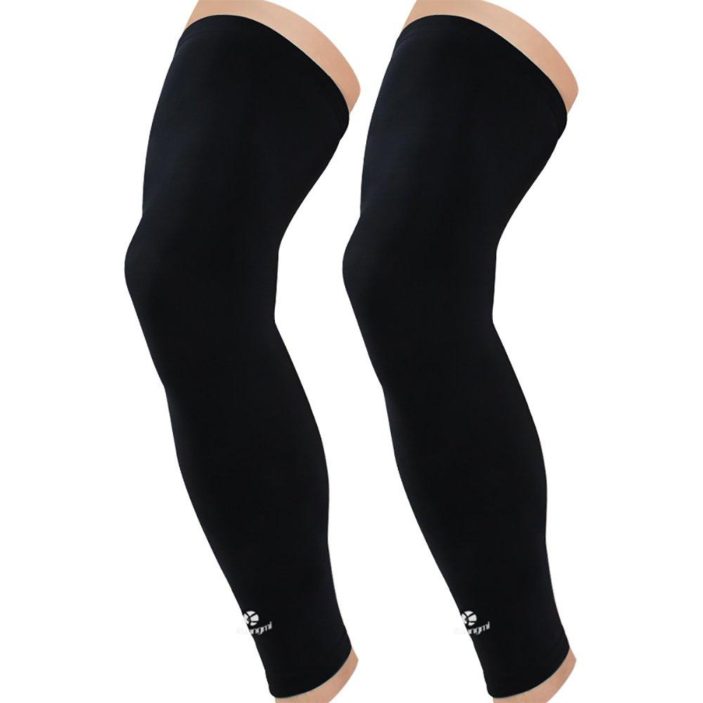 675bf086fffeb0 Amazon.com: Kuangmi Leg Compression Sleeve (1 Pair) Breathable UV Sun  Protection Women & Men Basketball,Running,Cycling,Pain Relief,Shin Splints:  Sports & ...
