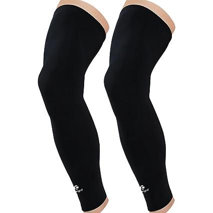 ff16bc4013 Amazon.com: Kuangmi Leg Compression Sleeve (1 Pair) Breathable UV Sun  Protection Women & Men Basketball,Running,Cycling,Pain Relief,Shin Splints:  Sports & ...