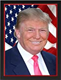 Donald Trump Poster 8'' x 10'' in Black Frame - President of the USA Donald Trump