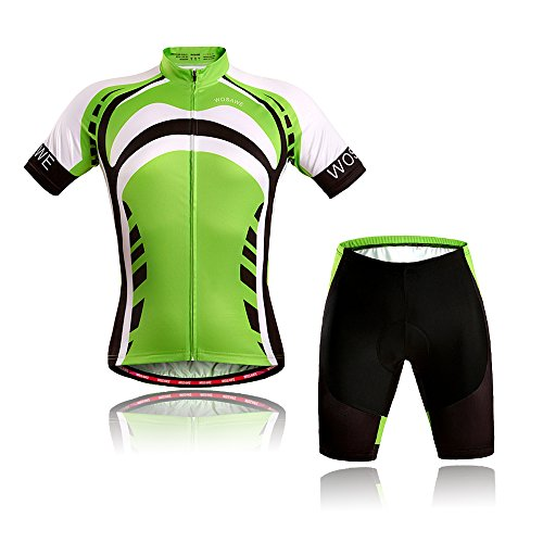 Bib Women/'s Cycling Kit Short Sleeve Jersey and Padded Shorts Set Plum Blossom