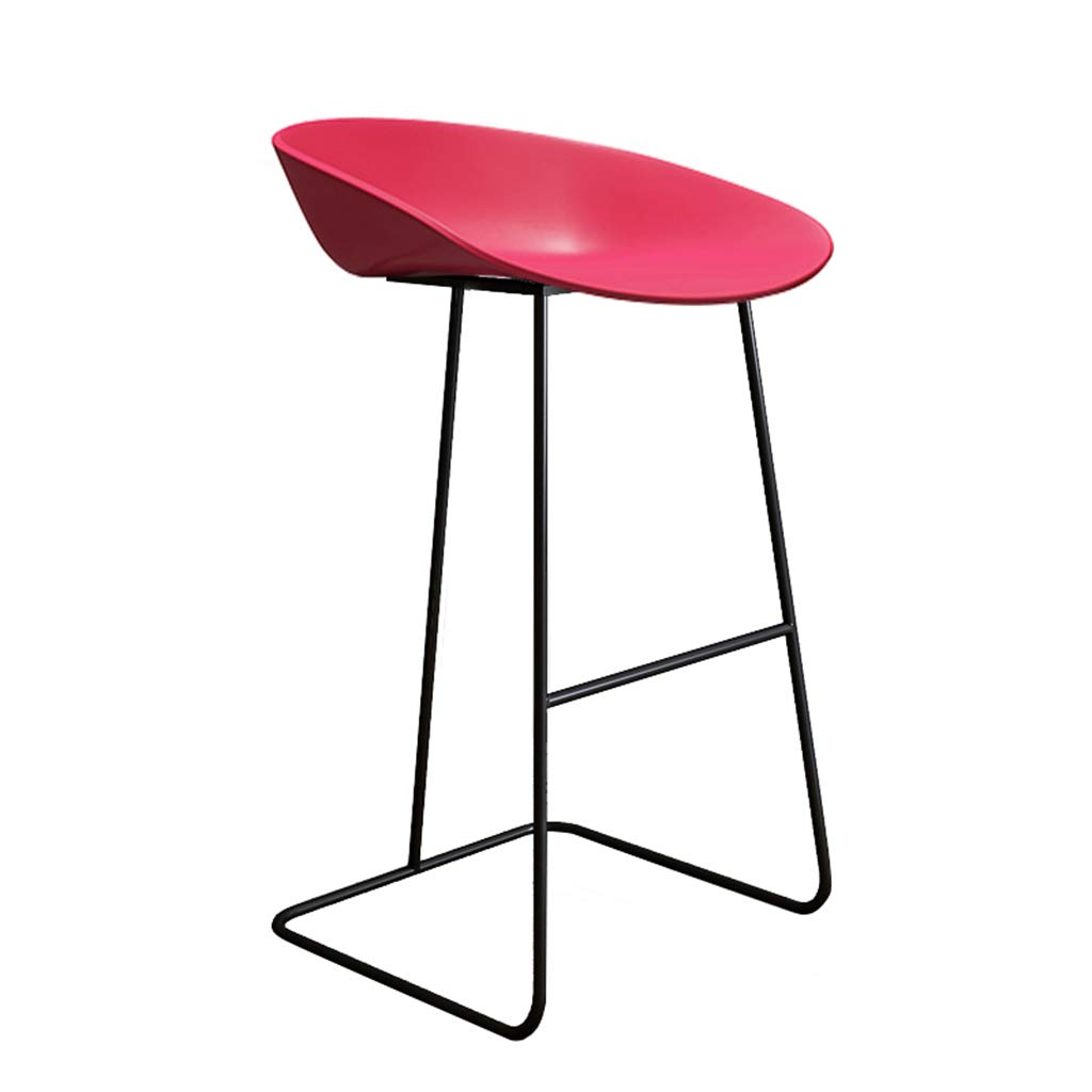 Red-black 75cm DingHome-ca Barstool - Wrought Iron Simple Fashion Breakfast High Chair Creative Bar Stool gold Kitchen Bar Counter