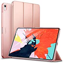 "ESR Yippee Trifold Smart Case for iPad Pro 11"", Lightweight Stand Case,Auto Sleep/Wake[Apple Pencil Charging not Supported],Microfiber Lining, Hard Back Cover for iPad Pro 11"" 2018, Rose Gold"