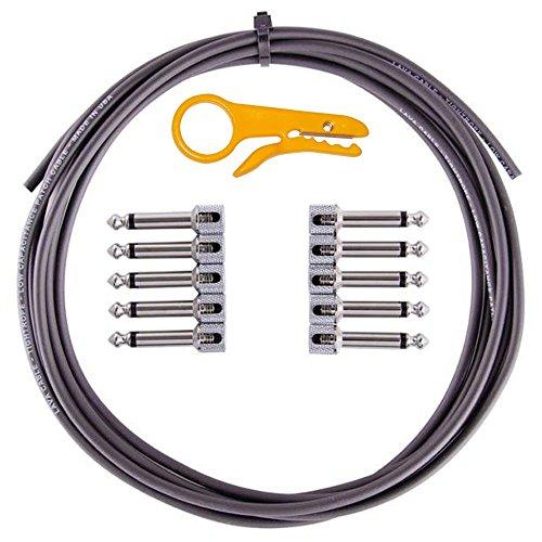 Core Pedal Board - Lava Cable Tightrope Solder-Free Pedal-Board Kit Black Cable