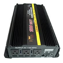 1500 WATT PURE SINE POWER INVERTER 12 VOLT DC TO 120V AC