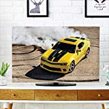 Protect Your TV Collection Luxury Sport Car Drifting Smoke Fast Speed Competition Motion Capture Picture Black Protect Your TV W32 x H51 INCH/TV 55''