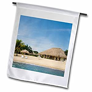 Danita Delimont - Belize - Caribbean Sea, Jaguar Reef Lodge, Belize - SA02 JME0010 - John and Lisa Merrill - 18 x 27 inch Garden Flag (fl_85547_2)