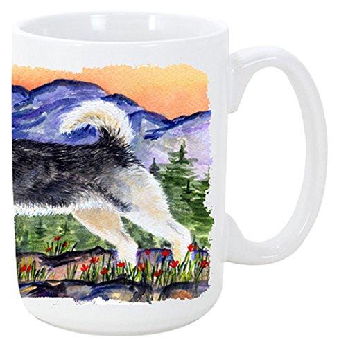 Caroline's Treasures SS8157CM15 Alaskan Malamute Microwavable Ceramic Coffee Mug, 15 oz, Multicolor