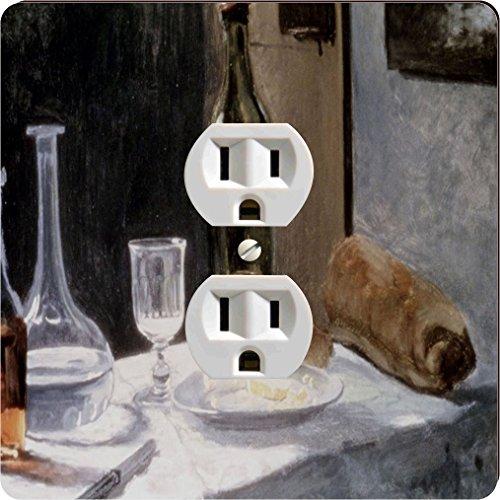 - Rikki Knight 3545 Outlet Claude Monet Art Still Life with Bottles & Knives Design Outlet Plate