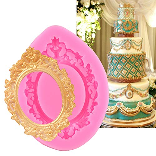 Mould - Fondant Molds 1pc Silicone Cake Mold Retro Frame Shape Chocolate Soap Moulds Stencils Diy Baking - Shaped Tulip Cakes Tools Sifter Bread Beginners Kitchen Sets Gadgets Organization Like