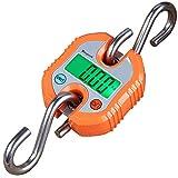 Mougerk Digital Hanging Scales Portable Heavy Duty Crane Scale 150 kg 300 lb 2 AAA Batteries(Not Included) (Orange)