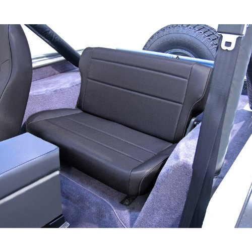 - Rugged Ridge 13462.15 Black Denim Fold and Tumble Rear Seat