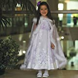 Angels Garment White Lilac Embroidered Occasion Dress Toddler Girls 2T