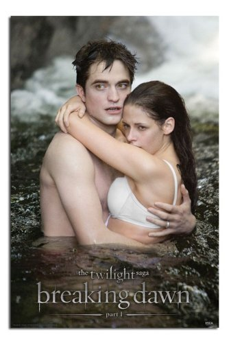 Iposters Twilight Breaking Dawn Part 1 Ed & Bella In Water Poster - 91.5 X 61cms (36 X 24 Inches)