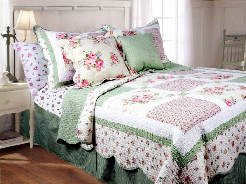 Textles Plus 3-Piece Mini Quilt Set, Spring Patch, Twin
