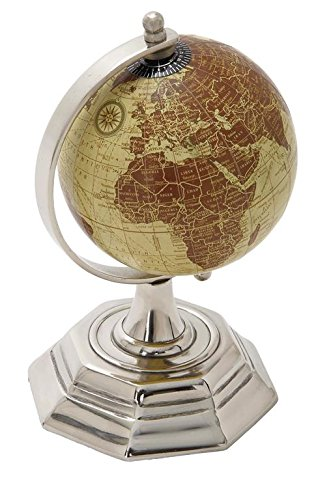Deco 79 40649 Metal Pvc Globe, 5'' x 8'' by Deco 79