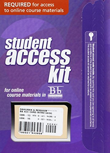 (Blackboard -- Access Card -- for Introduction to Geography: People, Places & Environment)