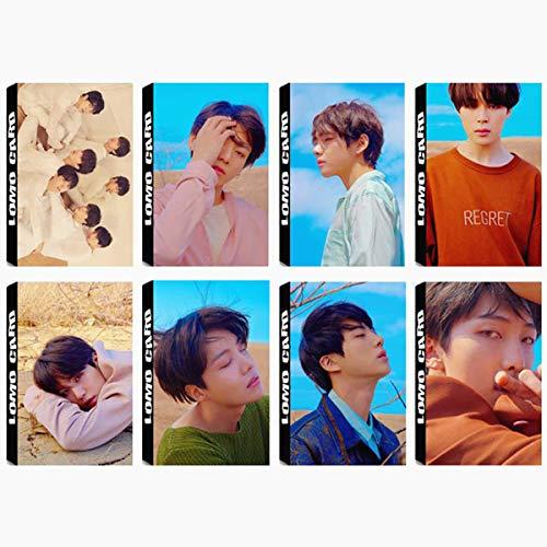 8 Pack/240 Pcs BTS Lomo Card KPOP Bangtan Boys Photocards LOVE YOURSELF Tear Greeting Card with Postcards Box