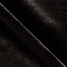 Stretch Velvet Knit Black Fabric By The Yard
