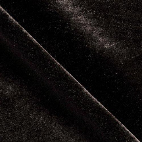 Stretch Velvet Knit Black Fabric