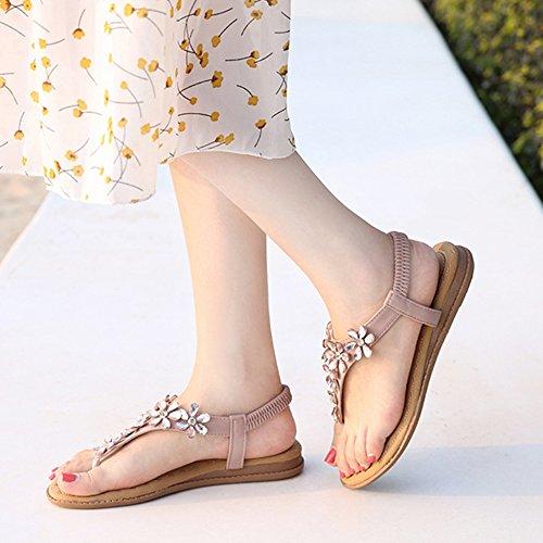 Purple Tongs Hope Sandales Plage Sandales Elastique Clip Toe Femmes Chaussures Post Strap Chaussures T Plat Thong rqxgZqYw