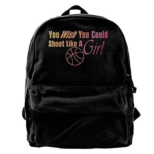 Price comparison product image Basketball Shoot Like A Girl Basketball Lover Unisex Classic Canvas Travel Backpack Rucksack School Bags