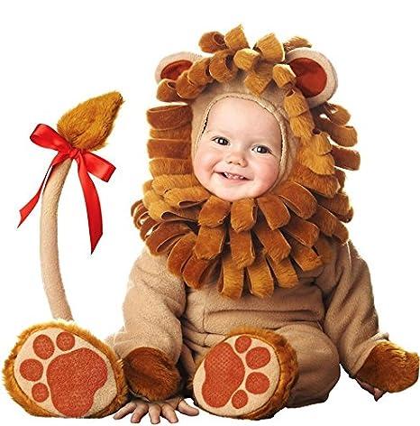 Costume da leone marrone per bebè travestimento carnevale halloween cosplay  tuta marrone con coda lunga e fbaa521c0a5
