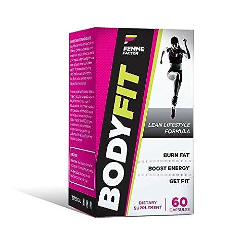 Body Fit Fat Burner for Women with Garcinia, Metabolism Booster, Calorie Burner, Appetite Suppressant, & Energy Weight Loss Pills, Femme Factor, (Calorie Burner)