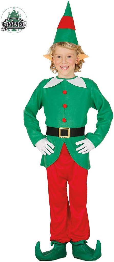 Disfraz de Elfo verde y rojo para niño: Amazon.es: Juguetes y juegos