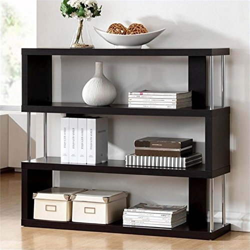 Atlin Designs 3 Shelf Bookcase in Dark Brown 51zX 2BM2ph8L