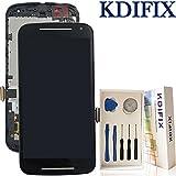 KDIFIX for Motorola Moto G2 2nd Gen XT1063 XT1064 XT1068 XT1069 LCD Touch Screen Assembly + Frame with Full Professional Repair Tools kit (Black+Frame)